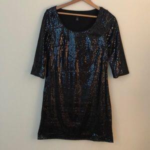 White House Black Market black sequin dress